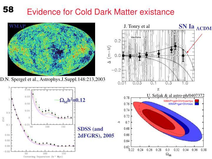 Evidence for Cold Dark Matter existance