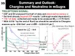 summary and outlook chargino and neutralino in msugra
