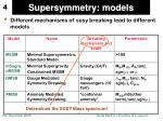supersymmetry models