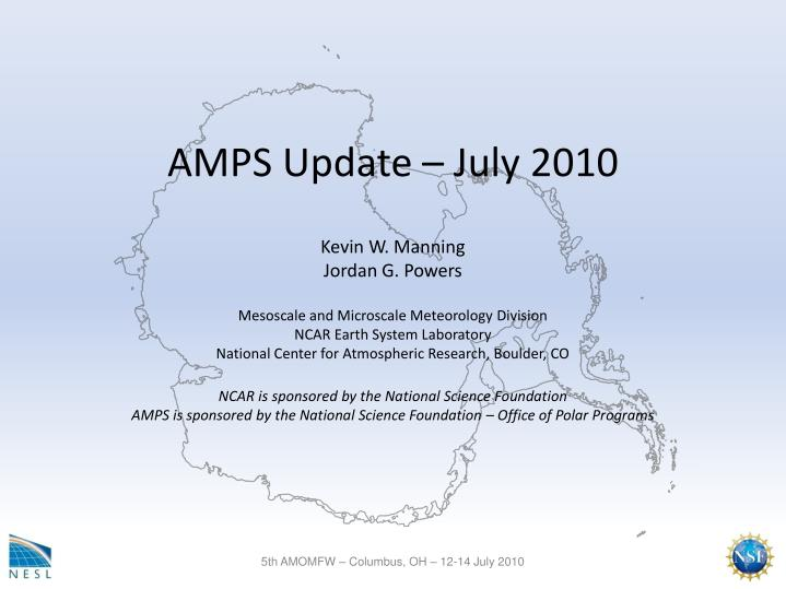Amps update july 2010