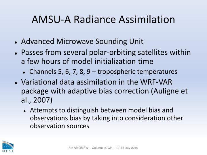 AMSU-A Radiance Assimilation