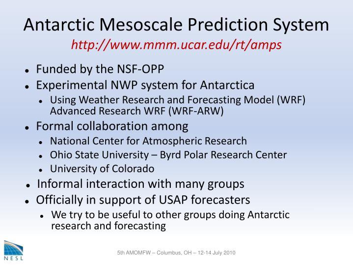Antarctic Mesoscale Prediction System