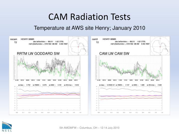 CAM Radiation Tests