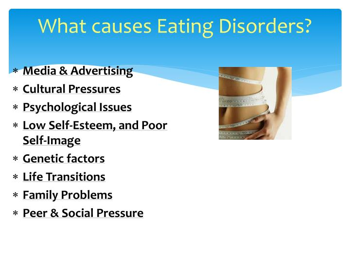 Eating disorders are caused by media