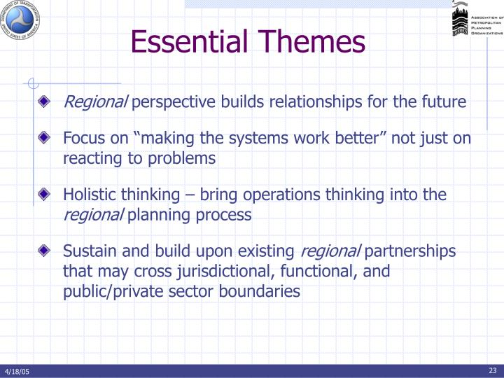 Essential Themes