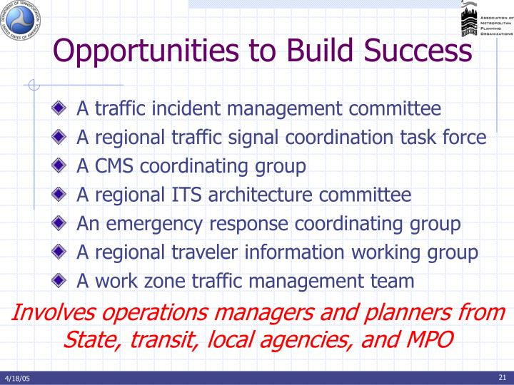 Opportunities to Build Success