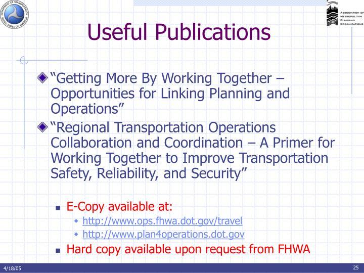 Useful Publications