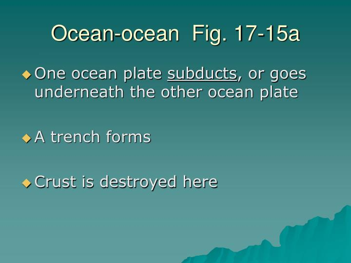 Ocean-ocean  Fig. 17-15a