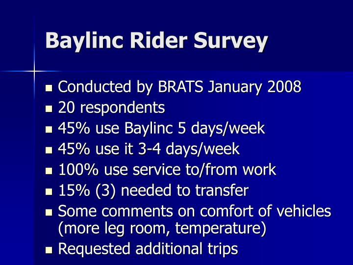 Baylinc Rider Survey