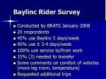 baylinc rider survey