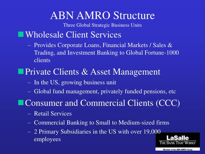 ABN AMRO Structure