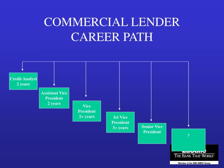 COMMERCIAL LENDER CAREER PATH
