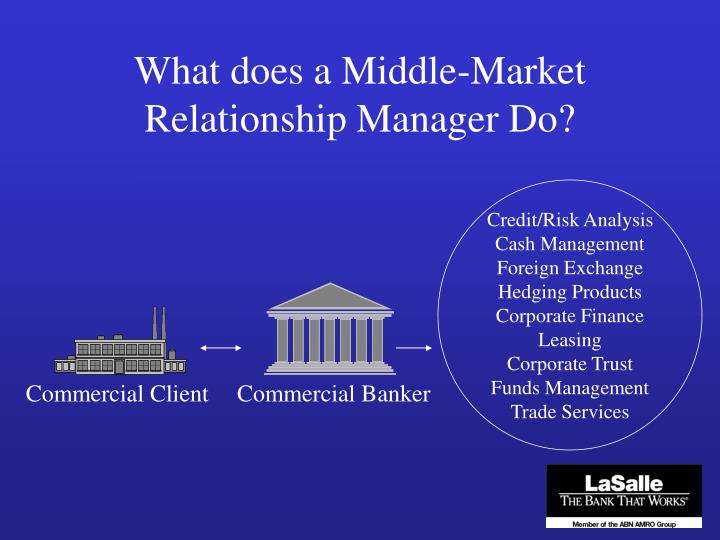 What does a Middle-Market Relationship Manager Do?
