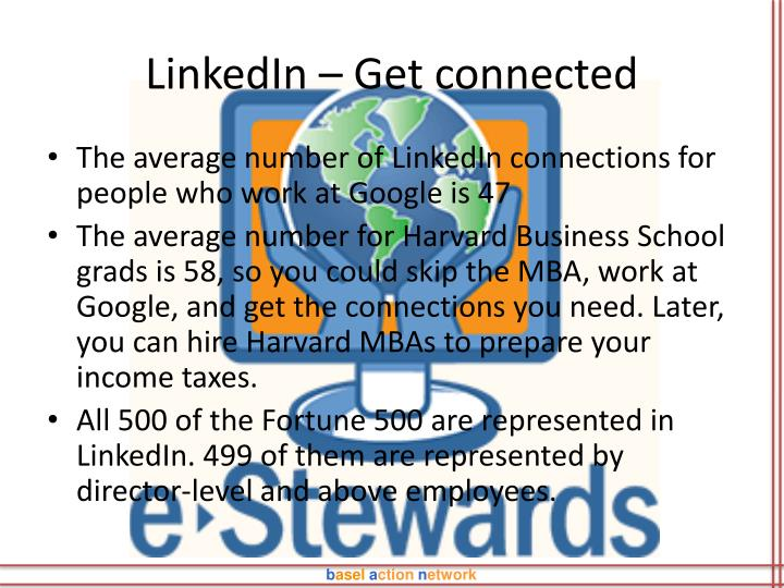 LinkedIn – Get connected