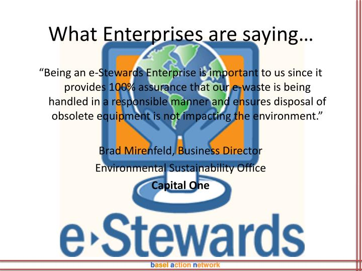 What Enterprises are saying…