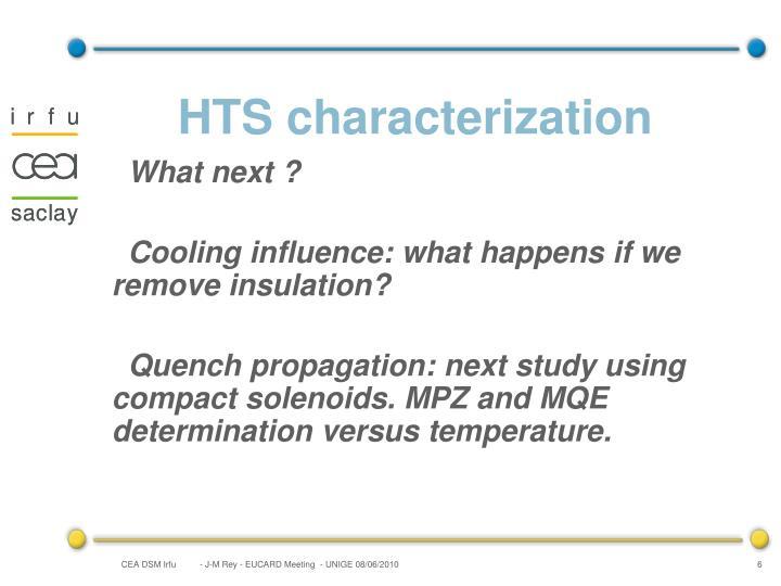HTS characterization