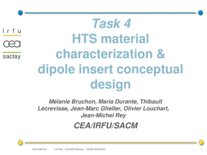 Task 4 hts material characterization dipole insert conceptual design
