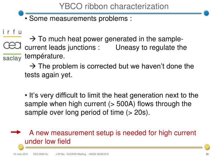 YBCO ribbon characterization