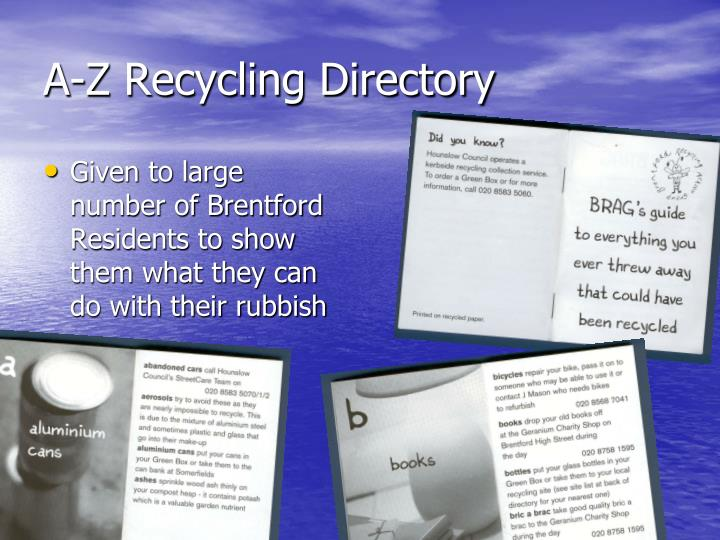A-Z Recycling Directory