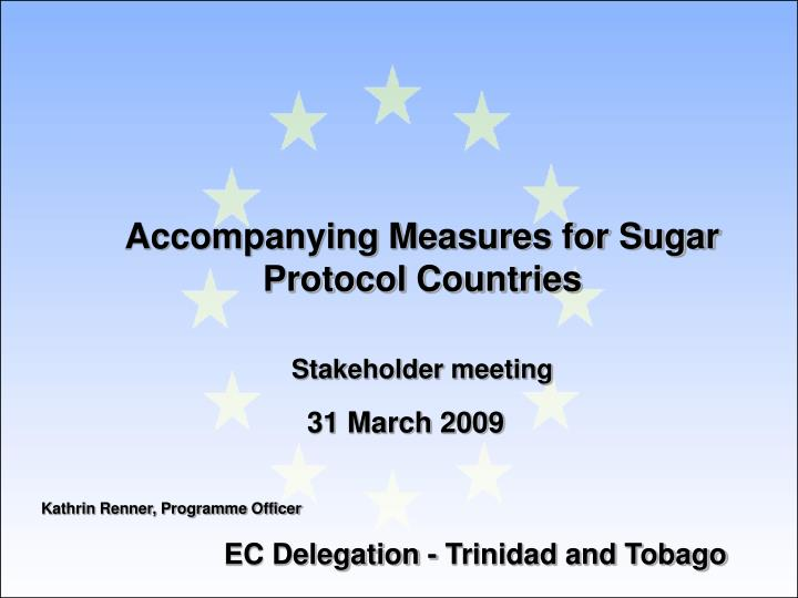 Accompanying measures for sugar protocol countries stakeholder meeting