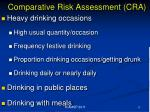 comparative risk assessment cra