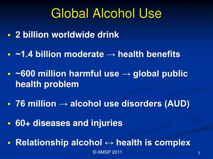 Global alcohol use