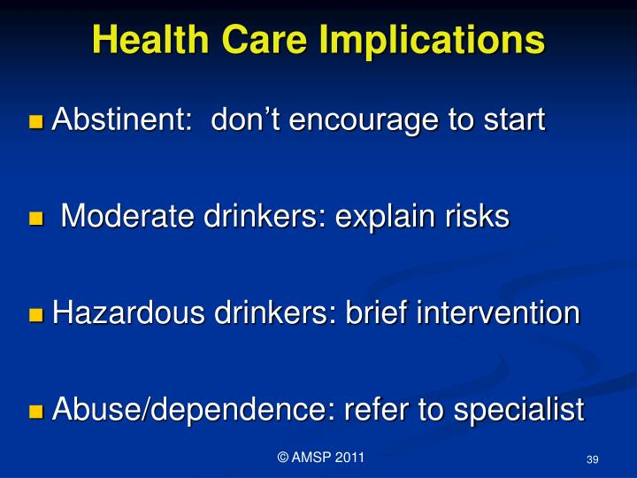 Health Care Implications