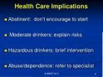 health care implications1