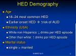 hed demography