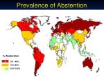 prevalence of abstention