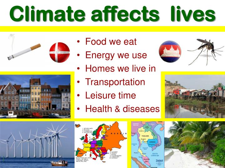Climate affects  lives