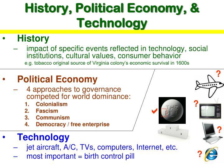 History, Political Economy, & Technology