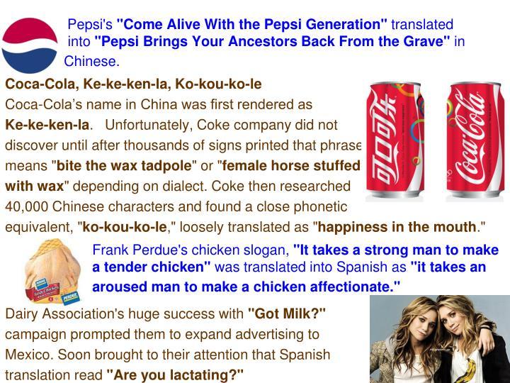 Pepsi's