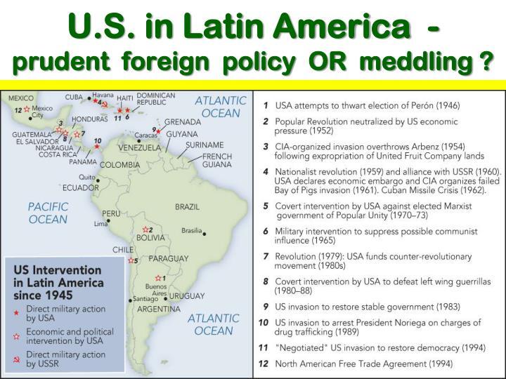 U.S. in Latin America  -