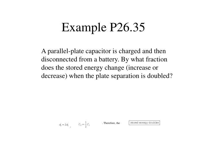 Example P26.35