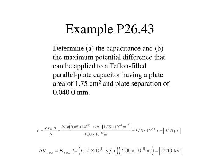 Example P26.43