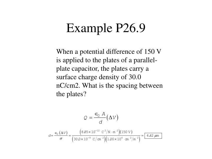 Example P26.9