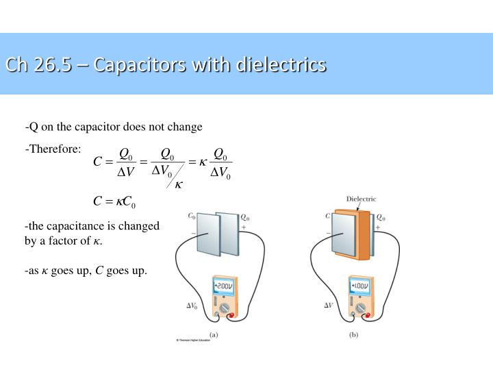 Ch 26.5 – Capacitors with dielectrics