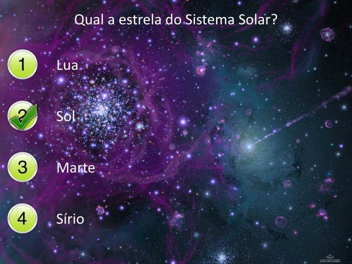 Qual a estrela do Sistema Solar?