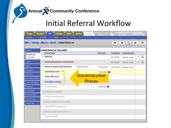 Initial Referral Workflow