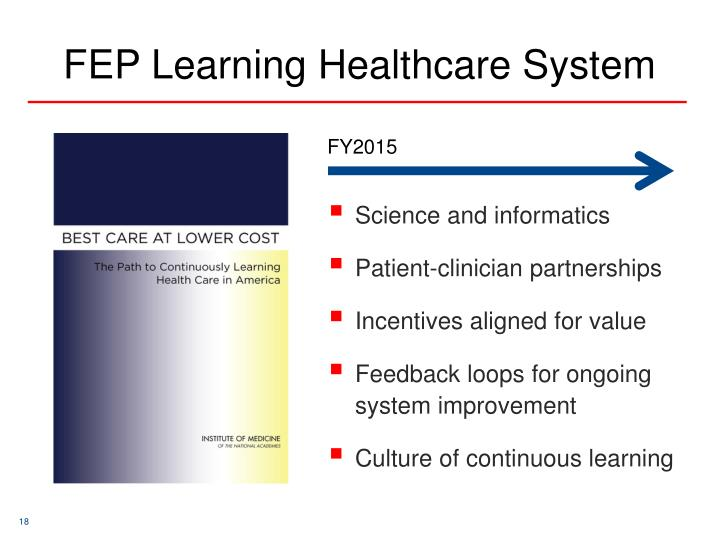 FEP Learning Healthcare System