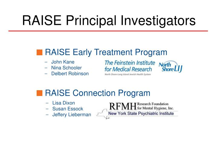 RAISE Principal Investigators