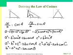deriving the law of cosines