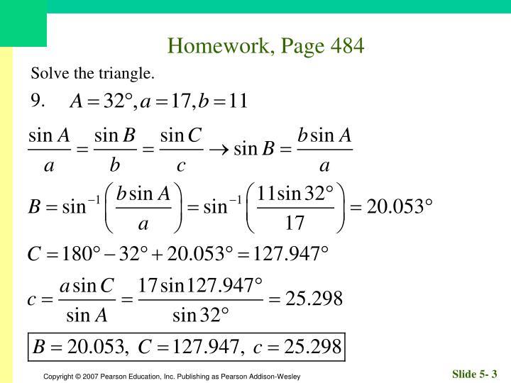 Homework, Page 484