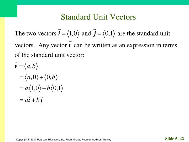 Standard Unit Vectors
