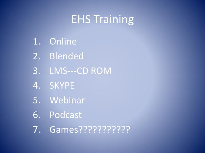 EHS Training