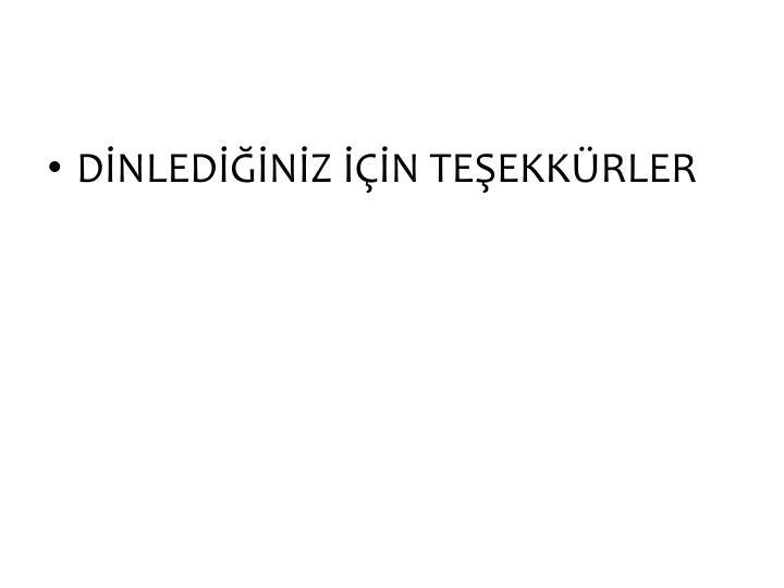 DNLEDNZ N TEEKKRLER