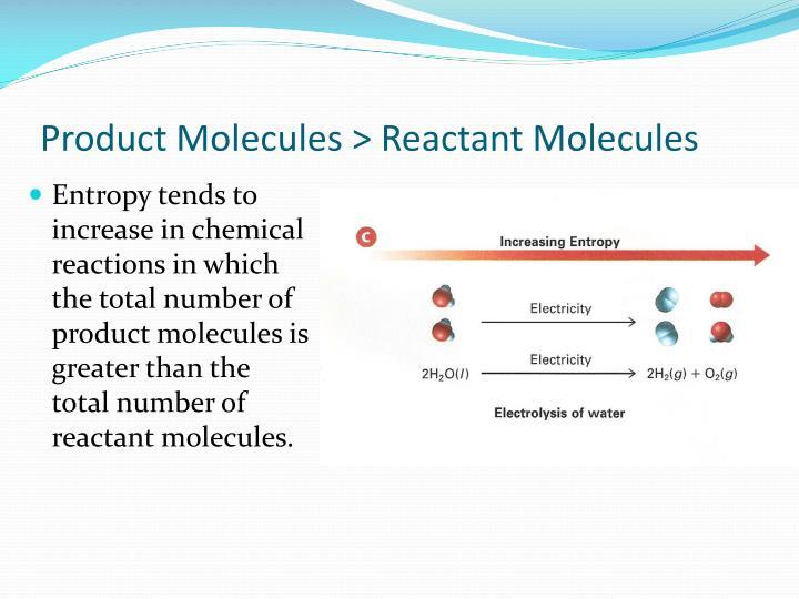 Product Molecules > Reactant Molecules