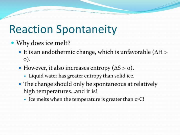 Reaction Spontaneity