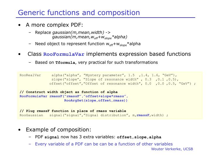 Generic functions and composition